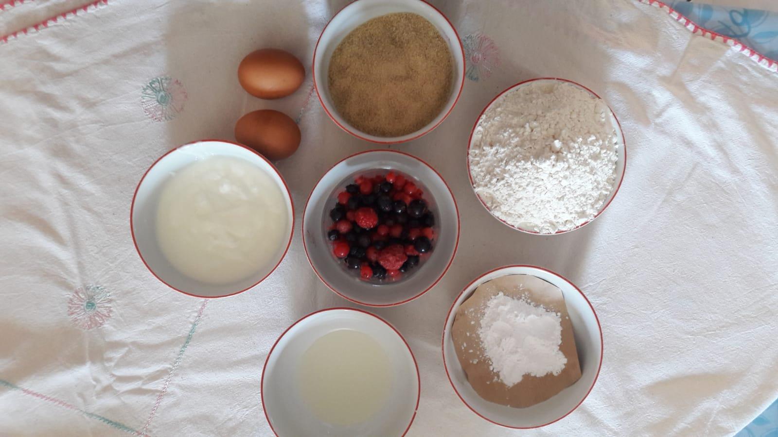Tortine con Farina di Rolo e frutti di bosco